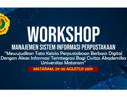 Workshop Manajemen Sistem Informasi UPT. Perpustakaan 2019